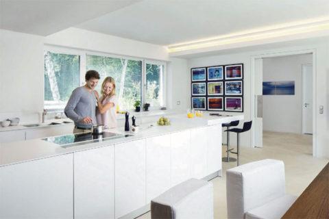 Nyt køkken med LED belysning monteret af elektriker